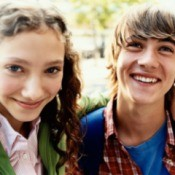 Photo of a young teen couple.