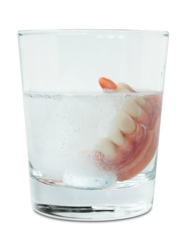 Dentures In Glass