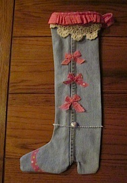 Jeans Christmas stocking.