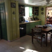 View of kitchen.