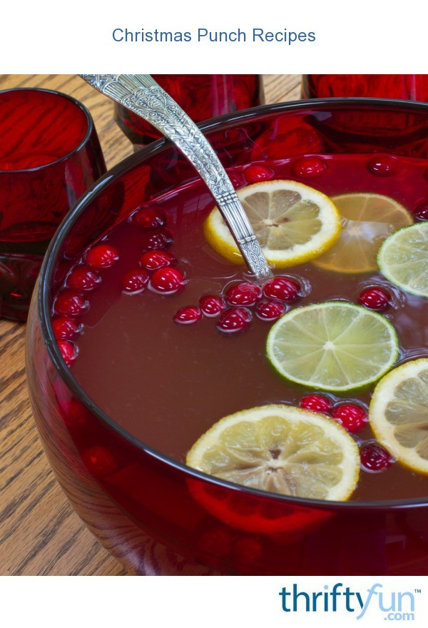 Christmas Punch Recipes | ThriftyFun