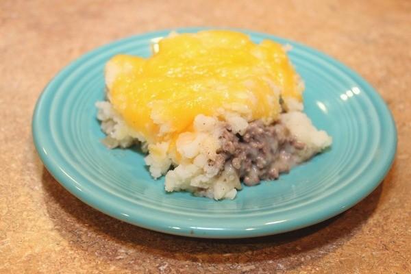 hamburger mashed potato casserole