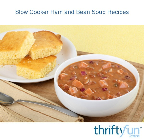 Slow Cooker Ham And Beans Recipe — Dishmaps