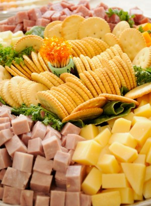 Large Tray of Cheese and Crackers