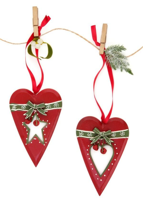 Christmas heart ornaments thriftyfun