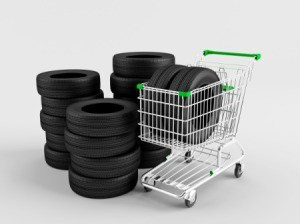 Tires in Shopping Cart