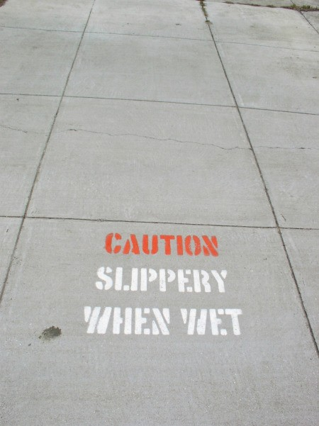 Slippery When Wet Concrete