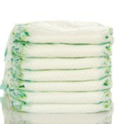 Stack of Disposable Diapers