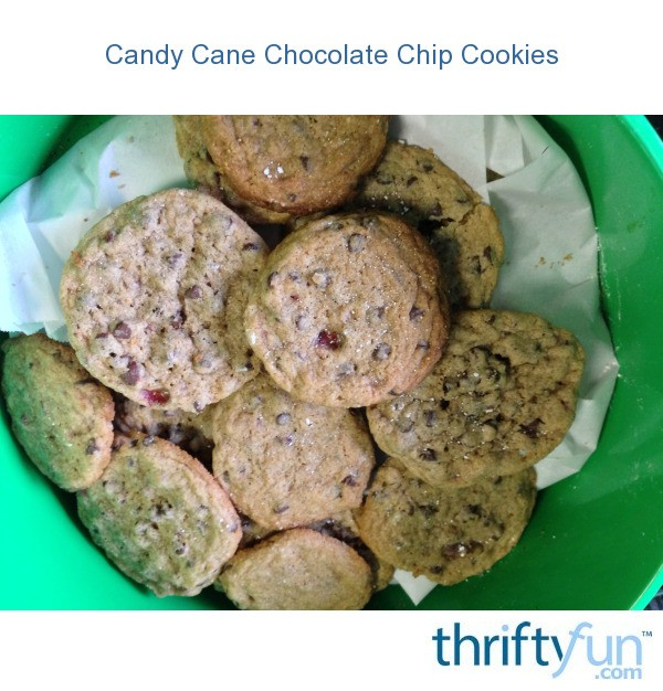 Candy Cane Chocolate Chip Cookies Thriftyfun