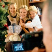 Family Taking Digital Photos