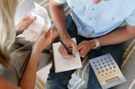 Couple Working on Household Expenses
