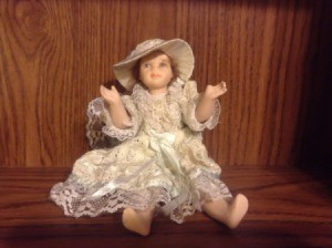 Front view of doll.