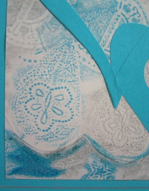 Closeup of card detail.