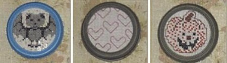 Heart pattern cross stitch.