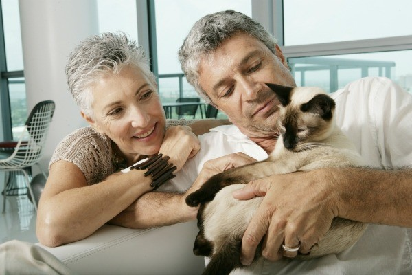 Couple with Their Pet Cat