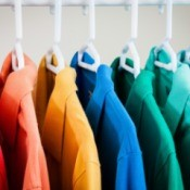 Organized Colorful Clothing