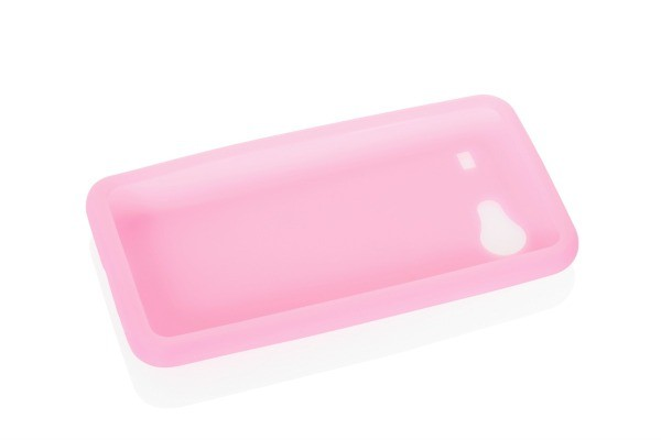 Pink Silicone Cell Phone Case