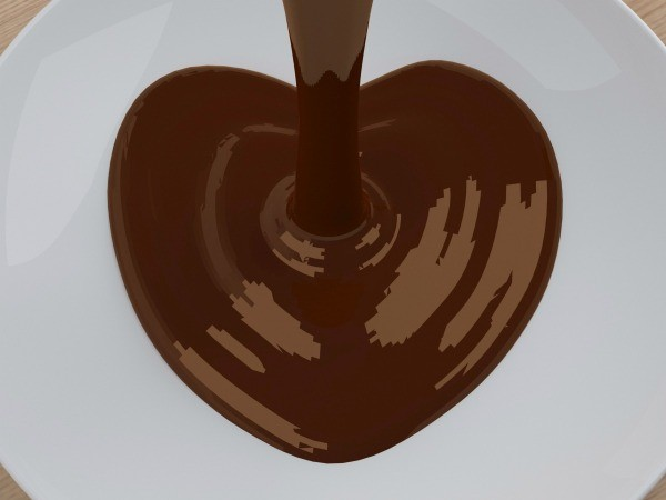 Chocolate Syrup Pouring onto Plate