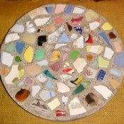 Mosaic stepping stones.