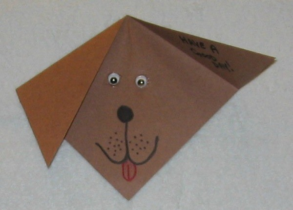 Brown puppy card.