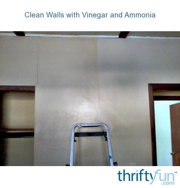 Clean Walls With Vinegar And Ammonia Thriftyfun