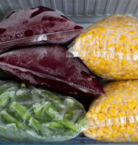 Food in Freezer Bags