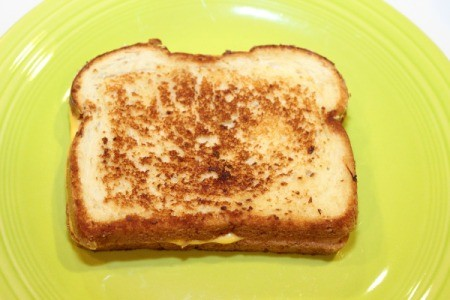 cooked grilled cheese