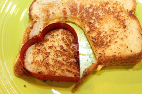 Making Grilled Cheese Hearts | ThriftyFun