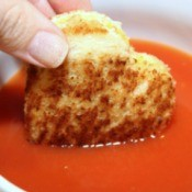 dipped grilled cheese heart