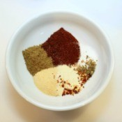 Making taco seasoning.