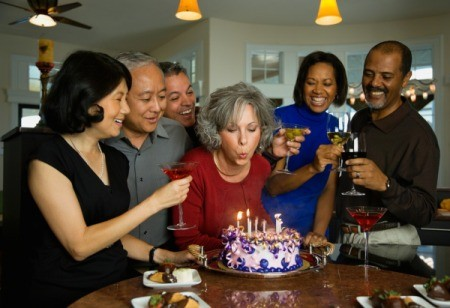 Adults at Birthday Party