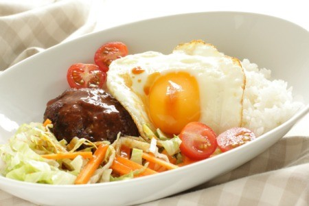 Hawaiian Food Locomoco Rice