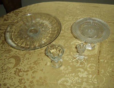 "Plates and ""pedestals""."