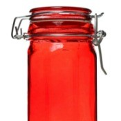 Tinted Glass Jar