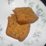 Finished bread slices on plate.