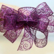 Wire-Edged Ribbon Bow