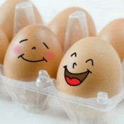 Laughing eggs.