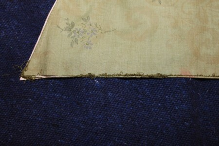 Example of underside of stitches.