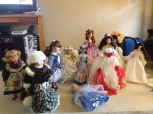 A collection of dolls.