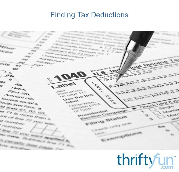 Finding tax deductions thriftyfun for Tax deduction for home improvements