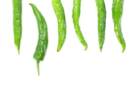 Green chiles.