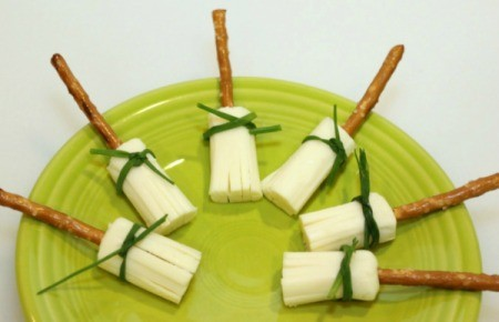String Cheese Witch Brooms