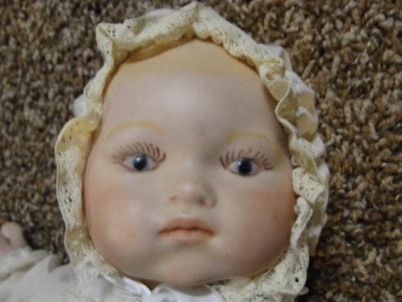 Closeup of baby doll.