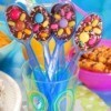 chocolate spoon centerpieces