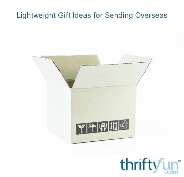 Wedding Gift Ideas For Couple Living Abroad : Lightweight Gift Ideas for Sending Overseas ThriftyFun