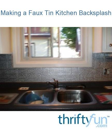 making a faux tin kitchen backsplash thriftyfun