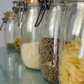 Pasta and Grains in Jars