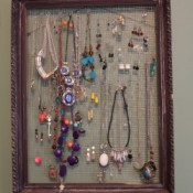 Recycled Jewelry Display