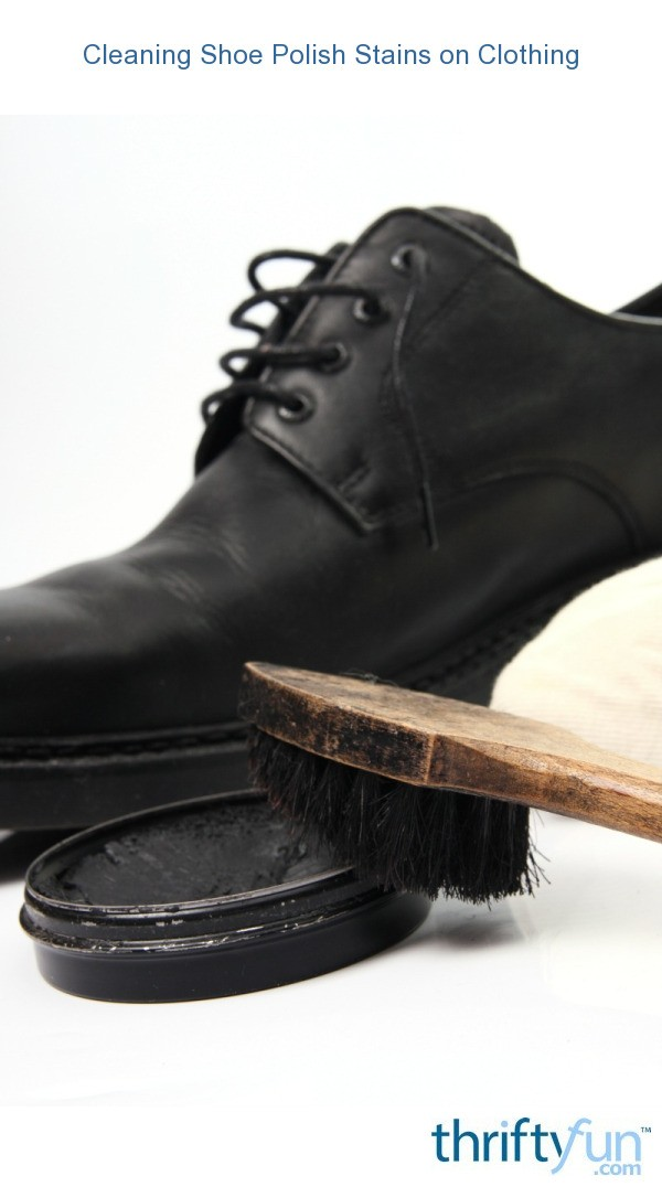 Black Shoe Polish Stain Removal