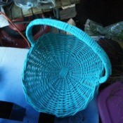 bright blue basket